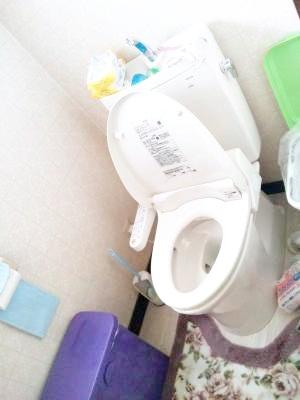 新しく、柔らかなアイボリーのトイレになりました。