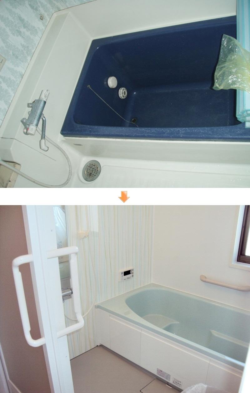 ユニットバスは大きな1616サイズを採用。換気・暖房・乾燥・涼風の機能が付いた多機能な浴室換気扇付です。