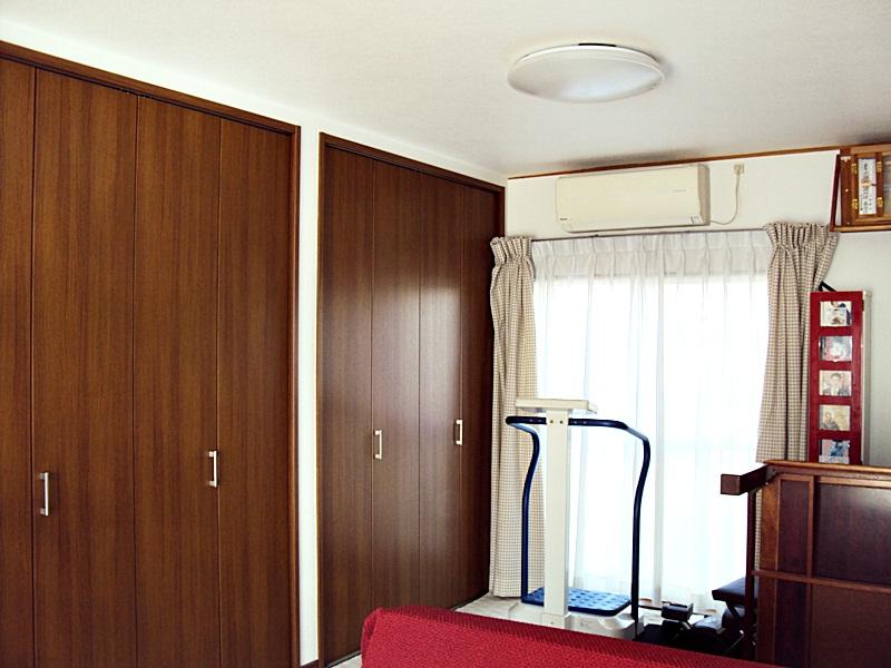 リビングと続きの部屋をワンルームにしました。