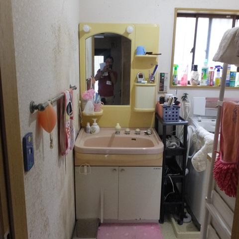 洗面改修、勝手口交換、浴室窓ルーバー取付