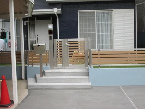 門扉廻りも工事完了となりました。シンプルでご利用し易くなっています。
