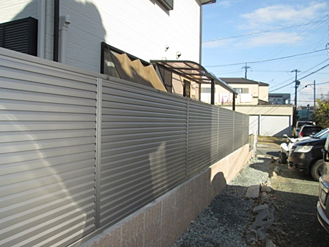塀を新しくしました。