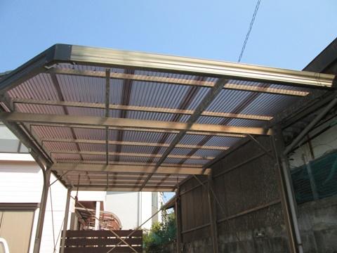 カーポートの屋根を張り替えました