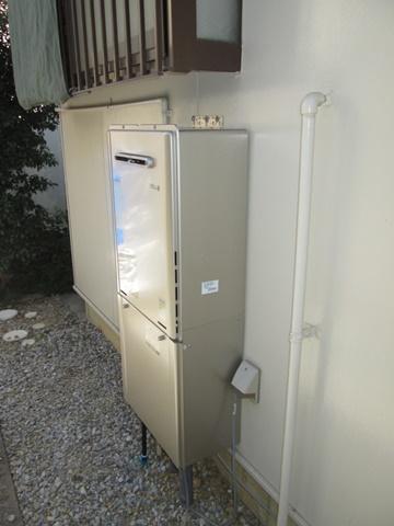 給湯器はエコジョーズに取り替えました。24号なので、台所と浴室の同時使用が可能です。