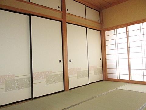 明るく爽やかな印象の和室に生まれ変わりました。