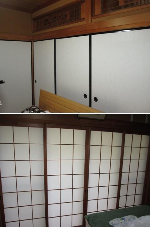 和室は襖の張り替えと内障子を貼り替えて、戸襖を作り替えました。
