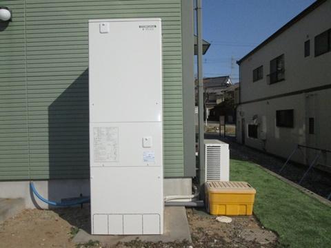 電気温水器をエコキュートに取り替えました。以前より省エネになりました。