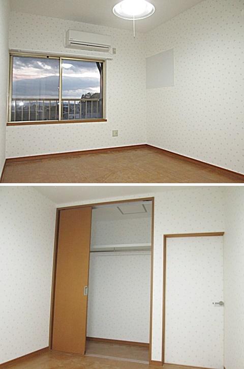 2階洋室は、和室から明るく使い勝手の良い洋室に生まれ変わりました。以前押入だった部分はクローゼットに造り替えました。