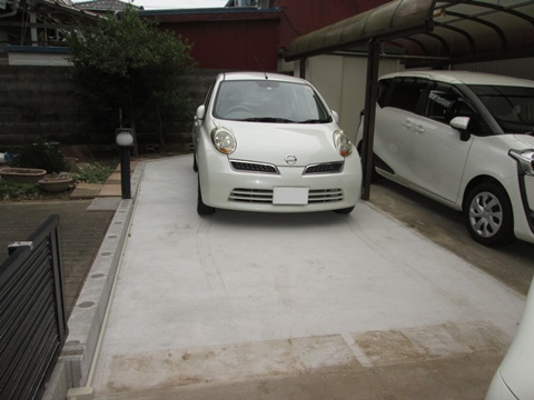駐車場を拡張しました
