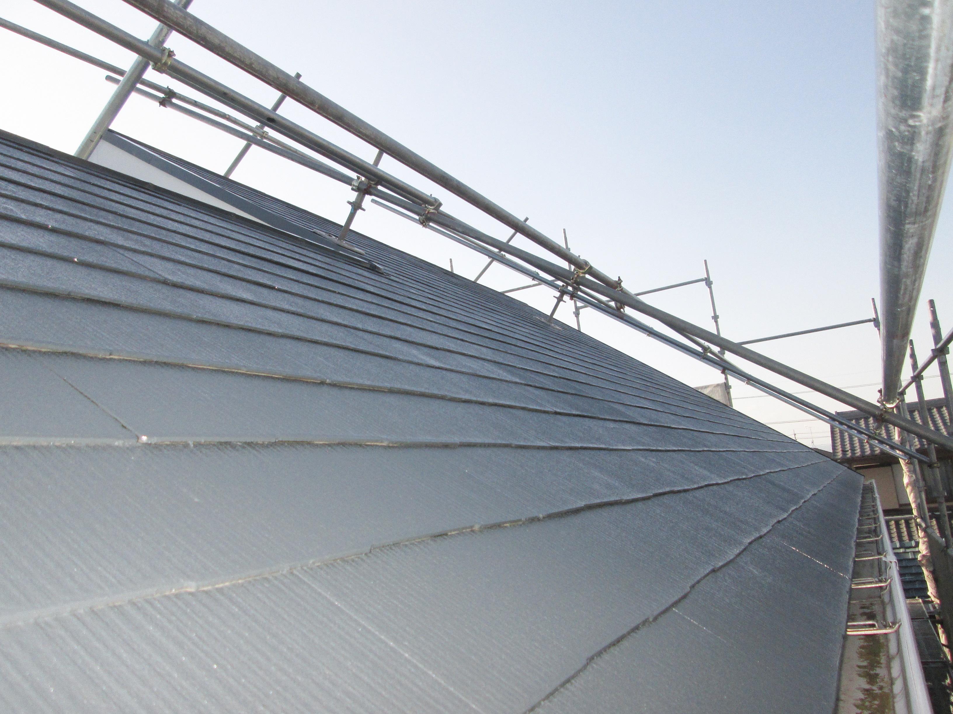 屋根と外壁の塗り替え、白蟻防除工事をしました
