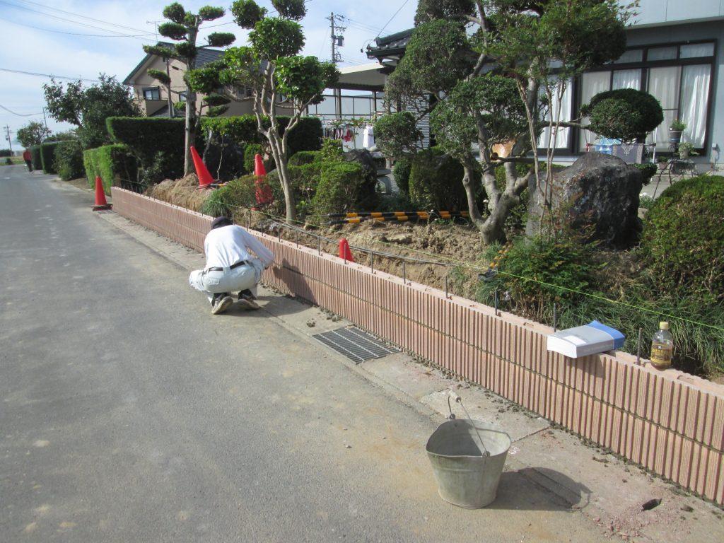 ブロック塀からフェンスにリフォームしました