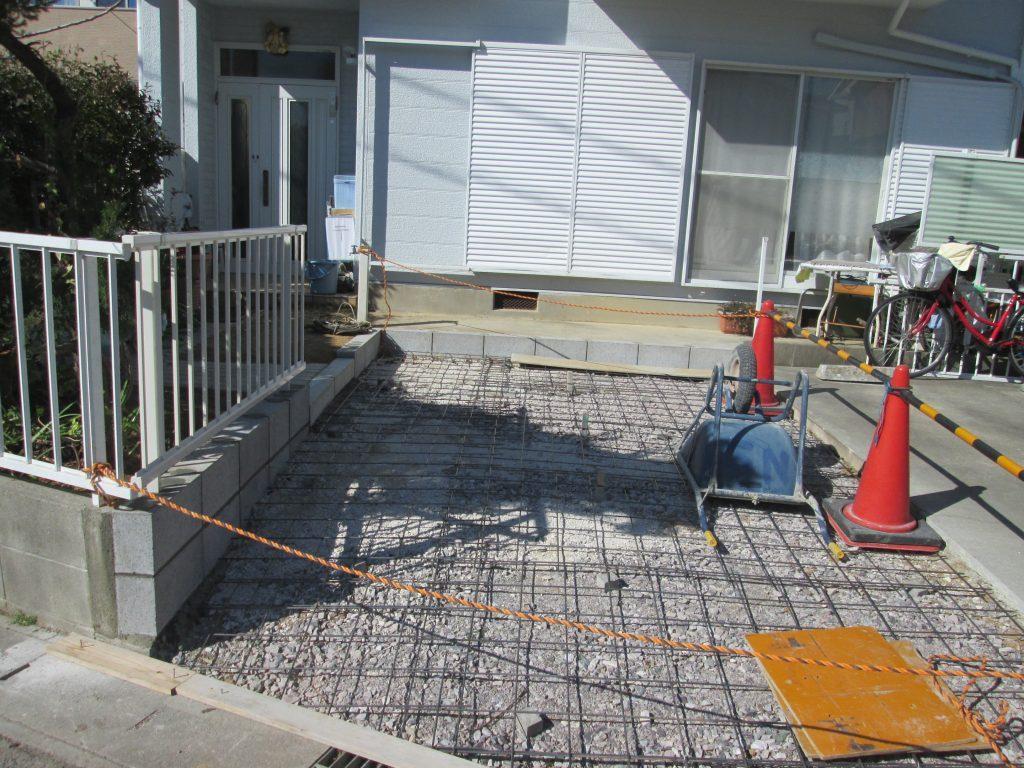 駐車スペースの拡張工事を行いました