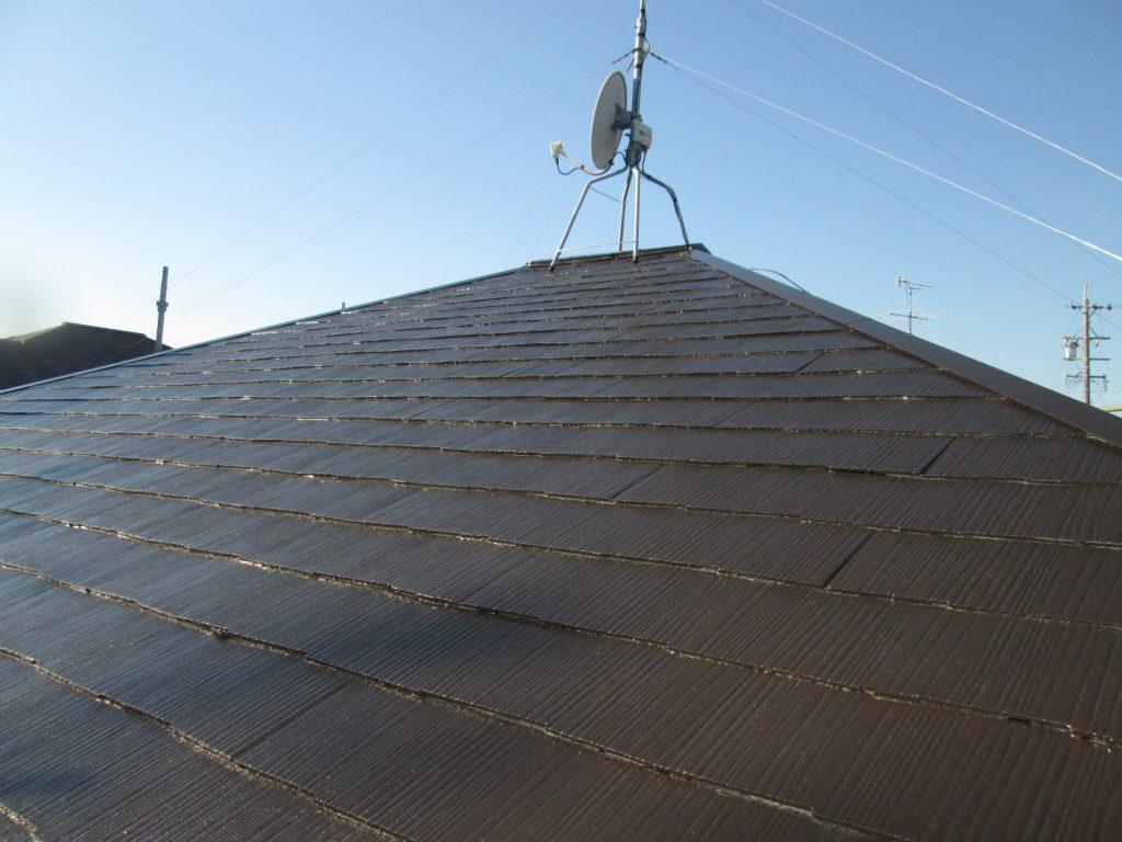 屋根の塗り替えをしました